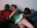 my wife with 2 blacks and a white