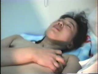 Japanese wife hiroko playing her sex toy