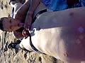 sucked on the beach