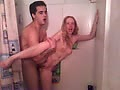Jeff and his wife in the shower