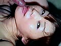 Japanese misao drinking her boyfriend sperm